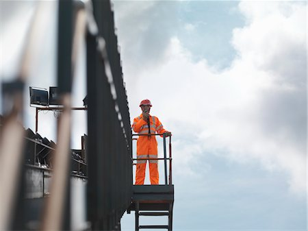 people working coal mines - Coal Worker On Viewing Platform Stock Photo - Premium Royalty-Free, Code: 649-03294070