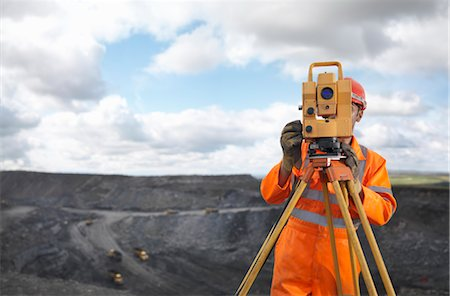 people working coal mines - Coal Miner With Surveying Equipment Stock Photo - Premium Royalty-Free, Code: 649-03294084