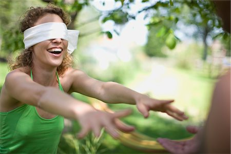 woman blindfolded Stock Photo - Premium Royalty-Free, Code: 649-03291788