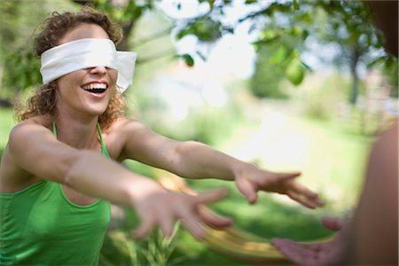 woman blindfolded Stock Photo - Premium Royalty-Free, Code: 649-03291788