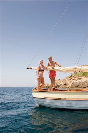 A senior couple sailing Stock Photo - Premium Royalty-Free, Code: 649-03291893
