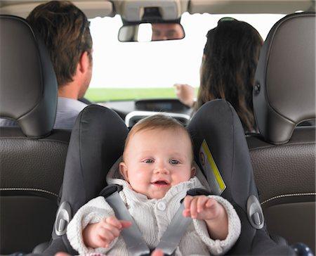 baby in car seat Stock Photo - Premium Royalty-Free, Code: 649-03293752