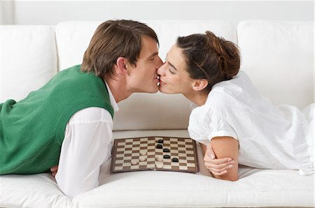 two lovers and no need for party games Stock Photo - Premium Royalty-Free, Code: 649-03362557