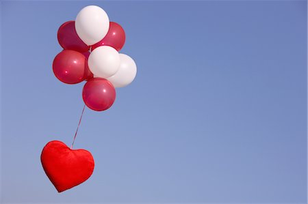 fly heart - heart flying with helium balloons Stock Photo - Premium Royalty-Free, Code: 649-03362730