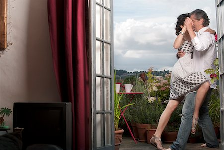 desire - couple dancing on balcony Stock Photo - Premium Royalty-Free, Code: 649-03362753