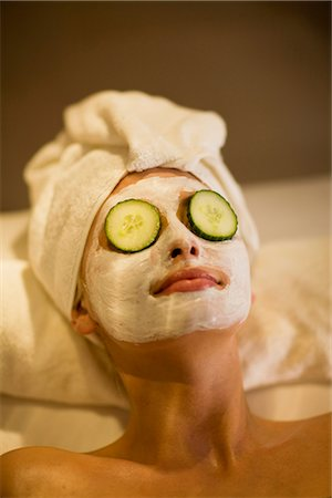 facial - a day in a wellness spa Stock Photo - Premium Royalty-Free, Code: 649-03417332