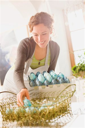 placing - Easter arrangements Stock Photo - Premium Royalty-Free, Code: 649-03417349