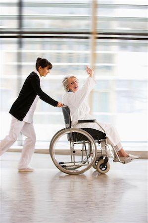 Wheel chair race Stock Photo - Premium Royalty-Free, Code: 649-03447138
