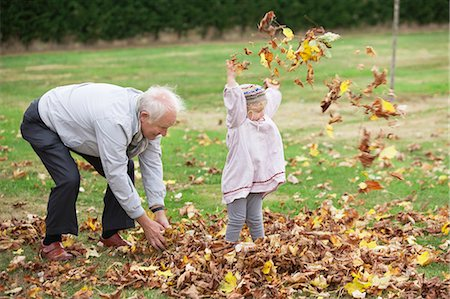 Grandfather and Granddaughter Stock Photo - Premium Royalty-Free, Code: 649-03447751