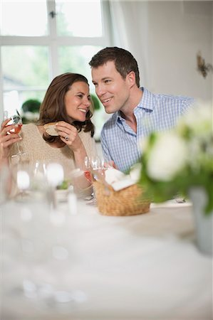 Couple having lunch Stock Photo - Premium Royalty-Free, Code: 649-03566027