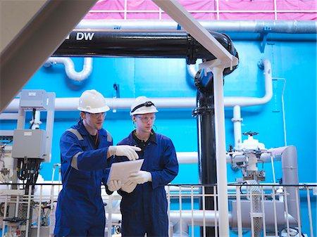 supervising - Engineer in Turbine Hall Stock Photo - Premium Royalty-Free, Code: 649-03566821