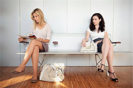 enemy - Two young women in waiting room Stock Photo - Premium Royalty-Free, Code: 649-03606350