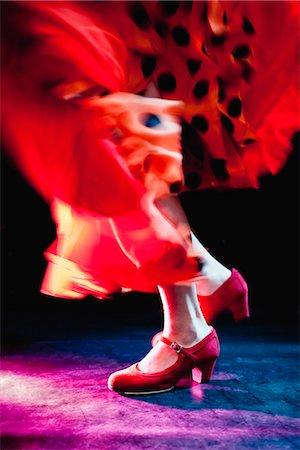 preteen dancing - Flamenco feet dancing Stock Photo - Premium Royalty-Free, Code: 649-03621784