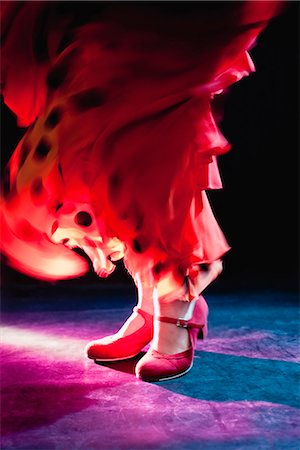 preteen dancing - Flamenco feet Stock Photo - Premium Royalty-Free, Code: 649-03621785