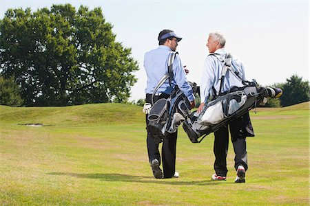 Walking over the golf course Stock Photo - Premium Royalty-Free, Code: 649-03622304