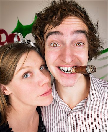 Couple at christmas party Stock Photo - Premium Royalty-Free, Code: 649-03666795