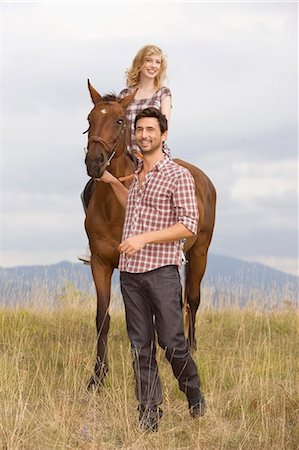 People and horses Stock Photo - Premium Royalty-Free, Code: 649-03769020
