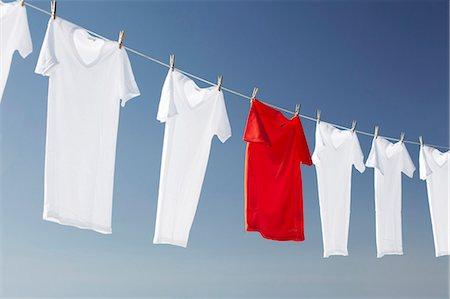 Washing line Stock Photo - Premium Royalty-Free, Code: 649-03770245