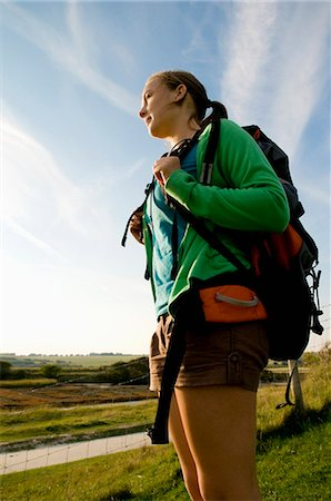 Portrait of female hiker Stock Photo - Premium Royalty-Free, Code: 649-03770586