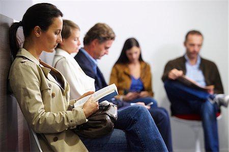 People sitting in waiting room Stock Photo - Premium Royalty-Free, Code: 649-03771560