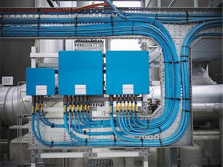 Switchgear at gas storage plant Stock Photo - Premium Royalty-Free, Code: 649-03771948