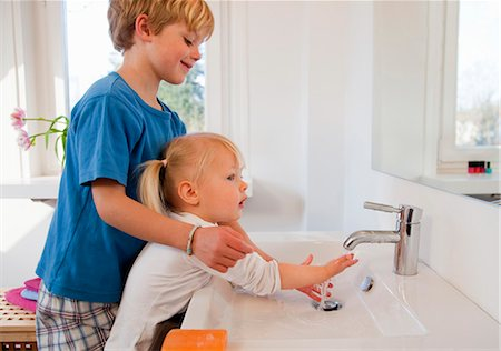 sister bathroom Brother and sister washing their hands Stock Photo Premium  Royalty Free  Sister bathroom. Brother And Sister In Bathroom