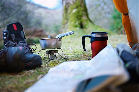 Cooking stove at campsite Stock Photo - Premium Royalty-Free, Code: 649-03858408
