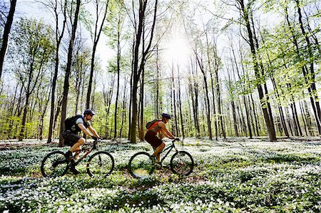 fitness   mature woman - Couple mountain biking together Stock Photo - Premium Royalty-Free, Code: 649-03884368