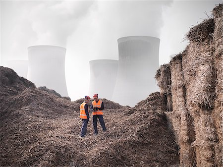 people working coal mines - Workers with elephant grass biomass fuel Stock Photo - Premium Royalty-Free, Code: 649-03883716