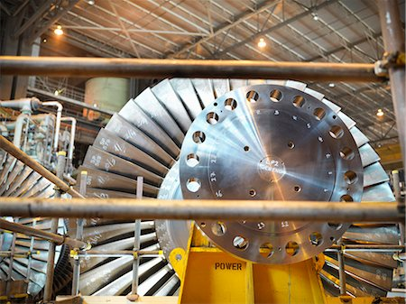 equipment - Turbine in power station Stock Photo - Premium Royalty-Free, Code: 649-03883724