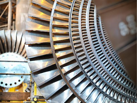 Turbines in power station Stock Photo - Premium Royalty-Free, Code: 649-03883737