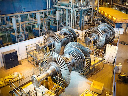 Turbines in power station Stock Photo - Premium Royalty-Free, Code: 649-03883745