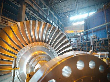 Turbine in power station Stock Photo - Premium Royalty-Free, Code: 649-03883740