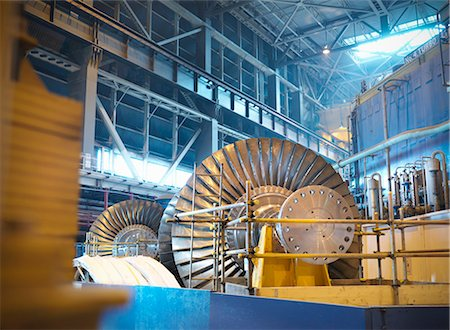 Turbines in power station Stock Photo - Premium Royalty-Free, Code: 649-03883742
