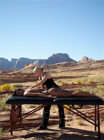 USA, Utah, Lake Powell, Woman receiving massage Stock Photo - Premium Royalty-Free, Code: 640-05761155