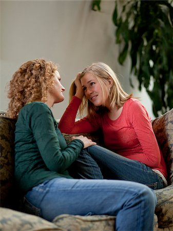 USA, Utah, Cedar Hills, Mother consoling teenage girl (14-15) Stock Photo - Premium Royalty-Free, Code: 640-05761352