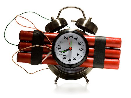 dynamite alarm clock Stock Photo - Premium Royalty-Free, Code: 640-06051123