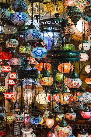 Turkey, Grand Baazar, Close up of colorful lamps Stock Photo - Premium Royalty-Free, Code: 640-06963076