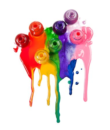 Colorful paints spilled on white background Stock Photo - Premium Royalty-Free, Code: 640-06963509
