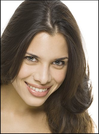 Portrait of a woman smiling Stock Photo - Premium Royalty-Free, Code: 640-01348858
