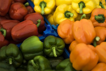 pimento - Close-up of bell peppers Stock Photo - Premium Royalty-Free, Code: 640-01348950