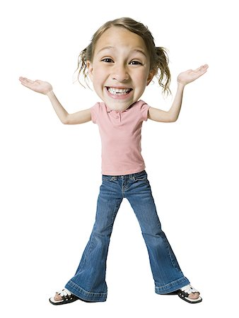 preteen thong - Portrait of a girl shrugging Stock Photo - Premium Royalty-Free, Code: 640-01354041