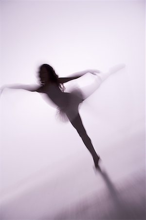 Blurred view of a girl doing ballet Stock Photo - Premium Royalty-Free, Code: 640-01357611