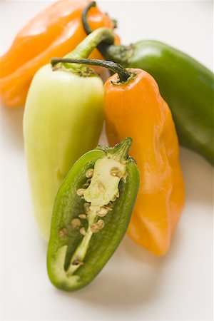 pimento - Close-up of chili peppers Stock Photo - Premium Royalty-Free, Code: 640-01350419