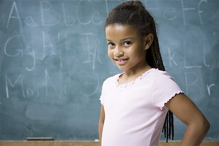 preteen  smile  one  alone - Portrait of a girl smiling Stock Photo - Premium Royalty-Free, Code: 640-01350525