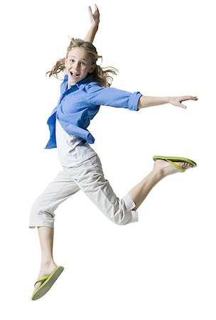 preteen thong - Portrait of a girl jumping Stock Photo - Premium Royalty-Free, Code: 640-01350569