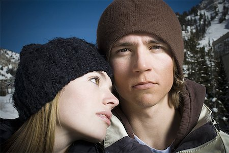 Close-up of a young couple Stock Photo - Premium Royalty-Free, Code: 640-01351034