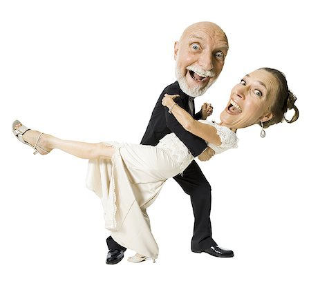 Portrait of a senior couple dancing Stock Photo - Premium Royalty-Free, Code: 640-01352549