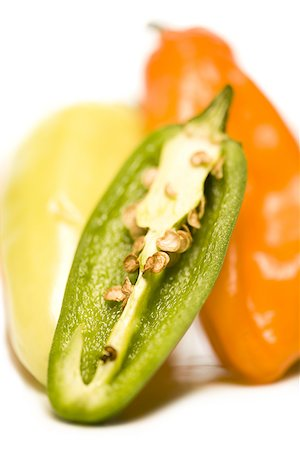 pimento - Close-up of chili peppers Stock Photo - Premium Royalty-Free, Code: 640-01353985
