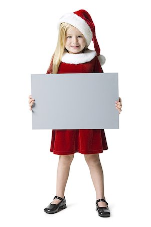 female white background full body - Portrait of a girl holding a blank sign Stock Photo - Premium Royalty-Free, Code: 640-01364312